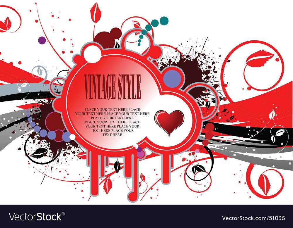 Valentines grunge background vector | Price: 1 Credit (USD $1)