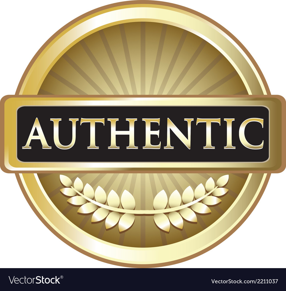 Authentic gold label vector | Price: 1 Credit (USD $1)