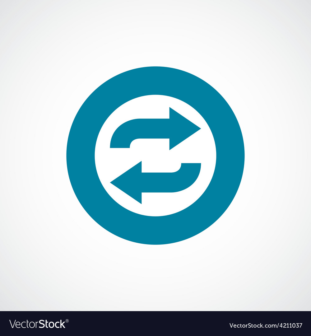Auto play icon bold blue circle border vector | Price: 1 Credit (USD $1)