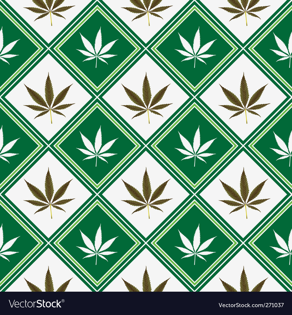 Cannabis seamless texture vector | Price: 1 Credit (USD $1)