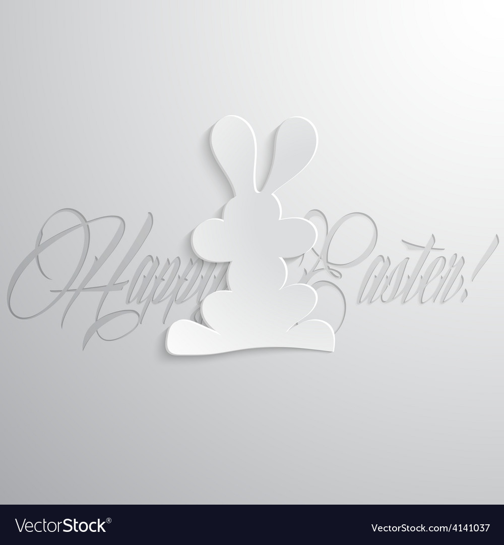 Easter rabbit with lettering vector   Price: 1 Credit (USD $1)