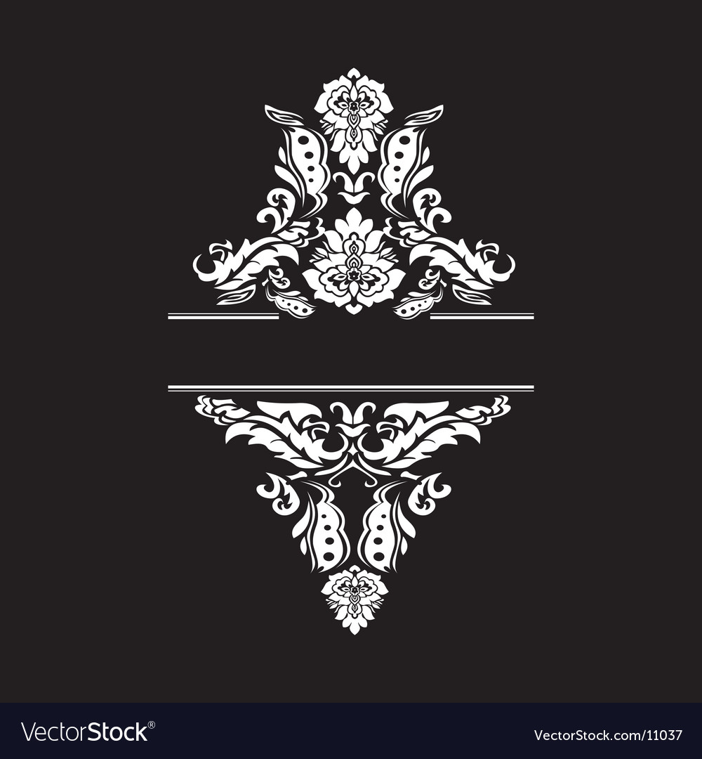 High detailed ornate vintage banner vector | Price: 1 Credit (USD $1)
