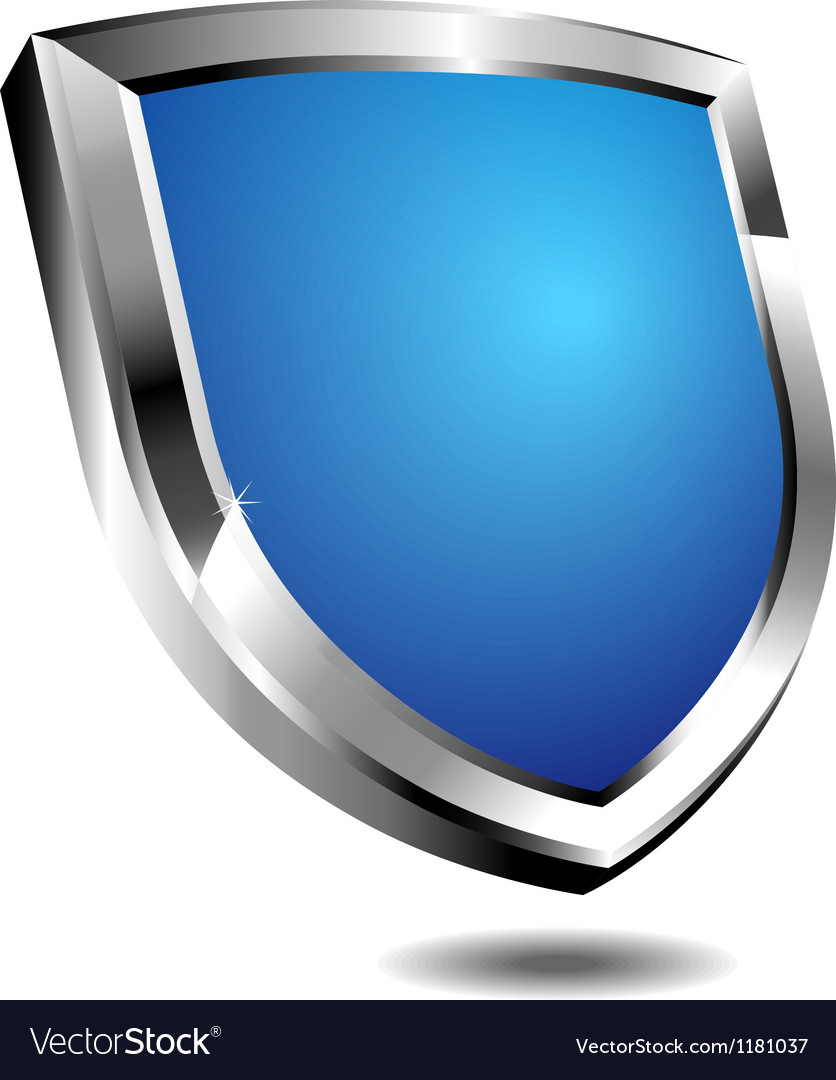 Modern blue shield vector | Price: 1 Credit (USD $1)