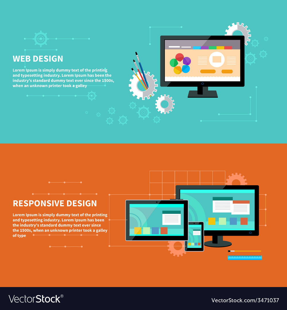 Responsive and web design concept vector | Price: 1 Credit (USD $1)