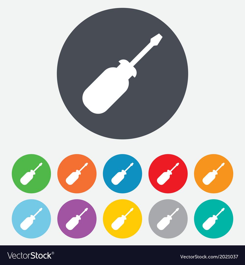 Screwdriver tool sign icon fix it symbol vector   Price: 1 Credit (USD $1)