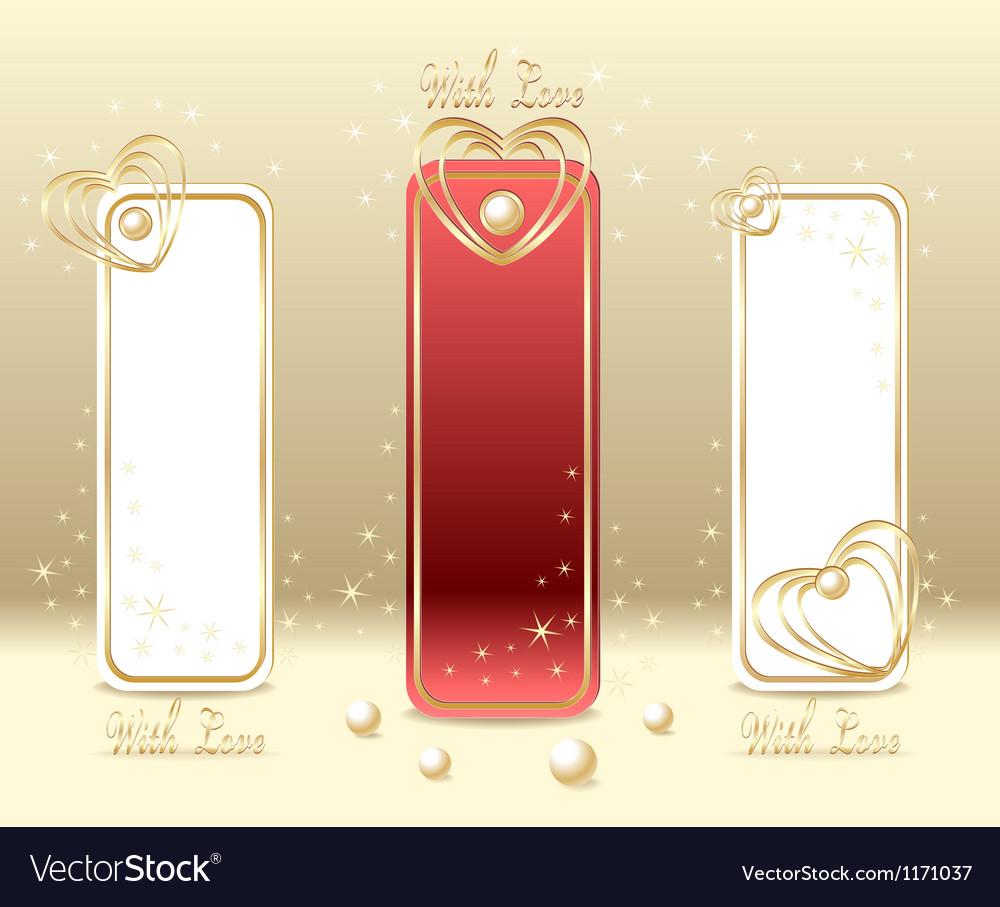 Set love labels vector | Price: 1 Credit (USD $1)