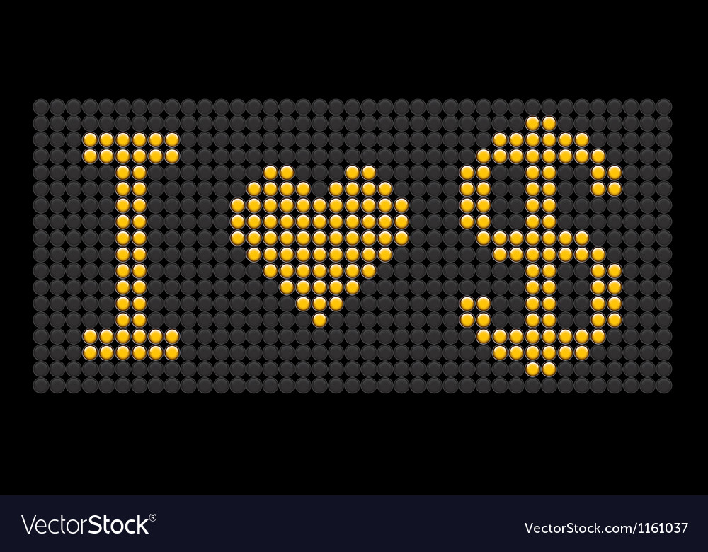 Yellow button board words i love dollar vector | Price: 1 Credit (USD $1)