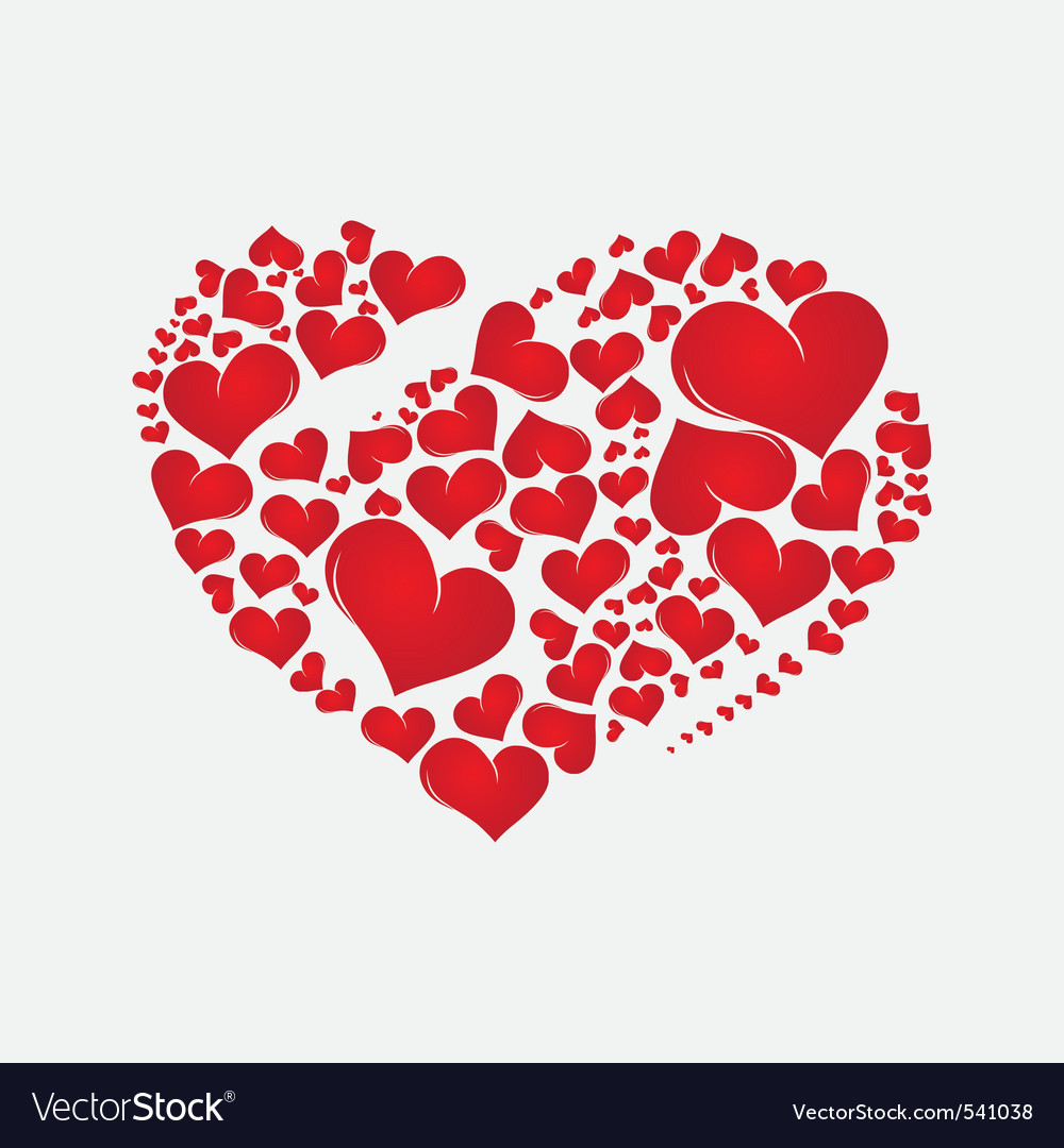 Abstract red heart vector | Price: 1 Credit (USD $1)