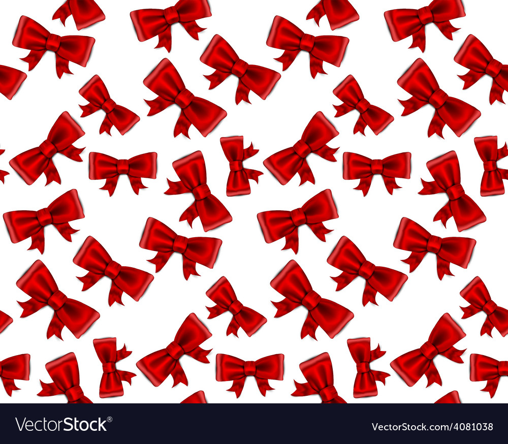 Celebrate seamless background of red bows vector | Price: 1 Credit (USD $1)