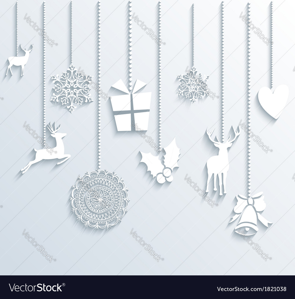 Christmas and happy new year winter season vector | Price: 1 Credit (USD $1)