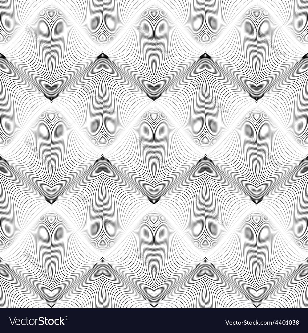 Design seamless wave geometric pattern vector | Price: 1 Credit (USD $1)
