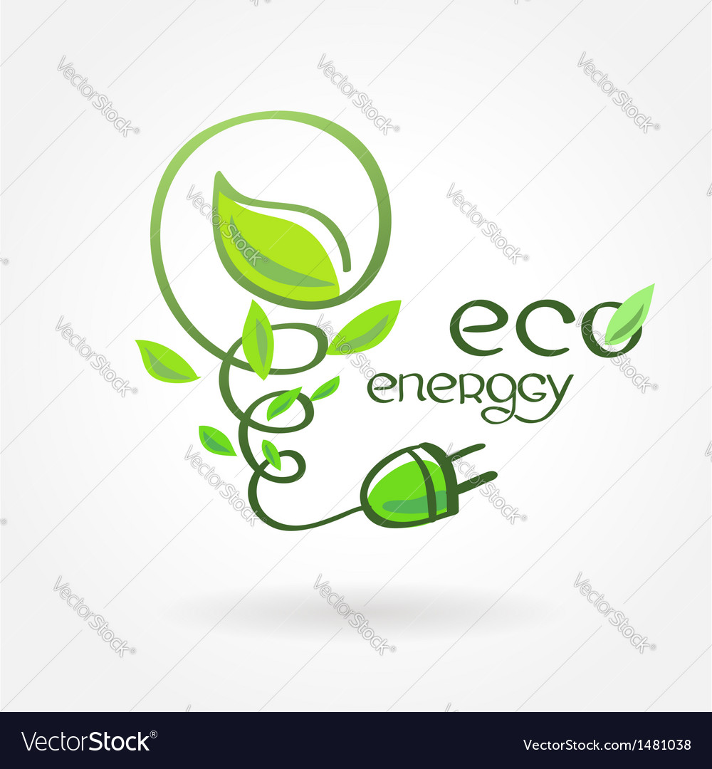 Eco energy leaf alternative power vector | Price: 1 Credit (USD $1)