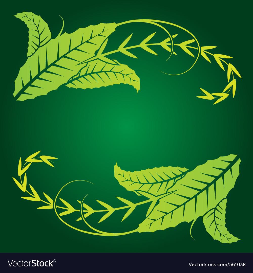 Foliage corner graphics vector | Price: 1 Credit (USD $1)