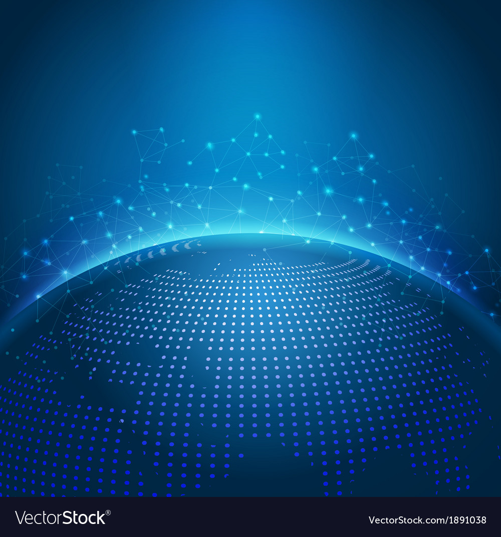 Global technology mesh digital network vector | Price: 1 Credit (USD $1)