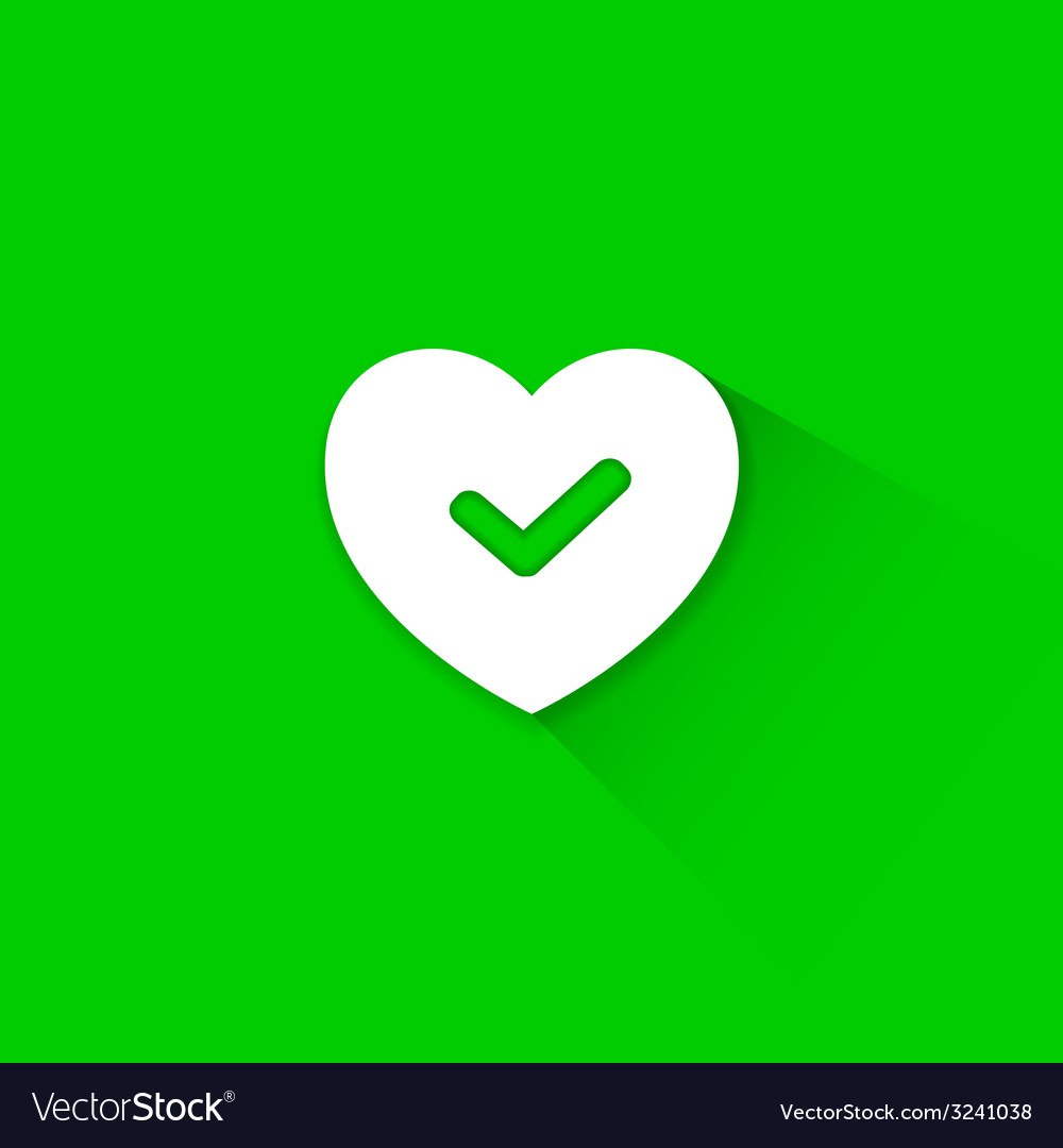 Green good heart icon vector | Price: 1 Credit (USD $1)