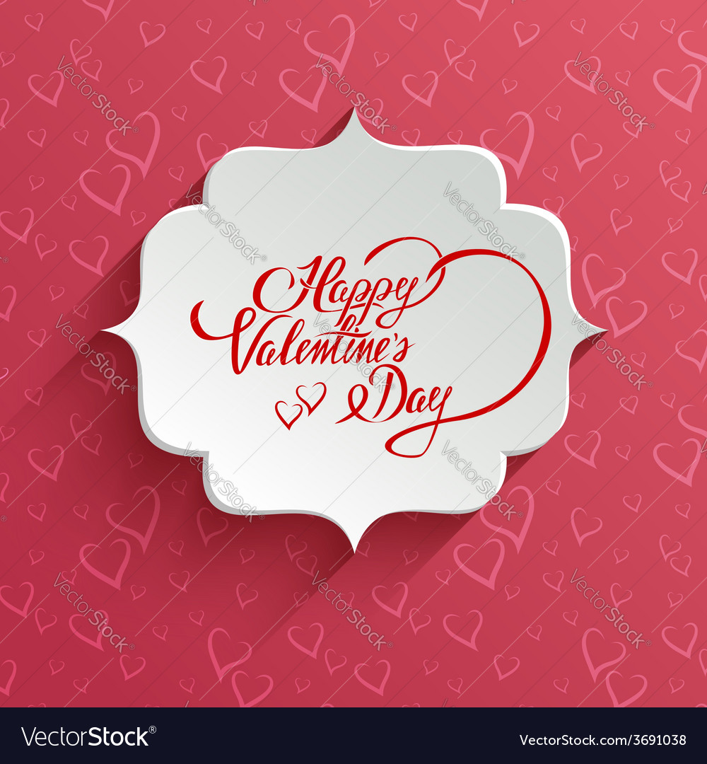 Happy valentines day greeting card vector | Price: 1 Credit (USD $1)