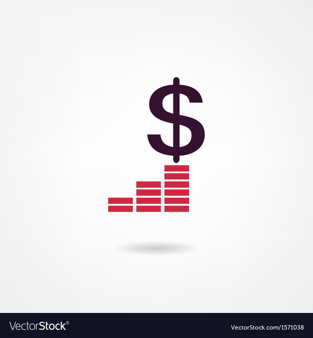 Income icon vector | Price: 1 Credit (USD $1)