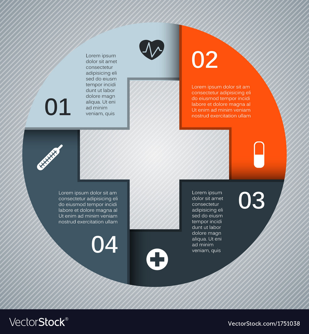 Modern template for your medical project vector | Price: 1 Credit (USD $1)