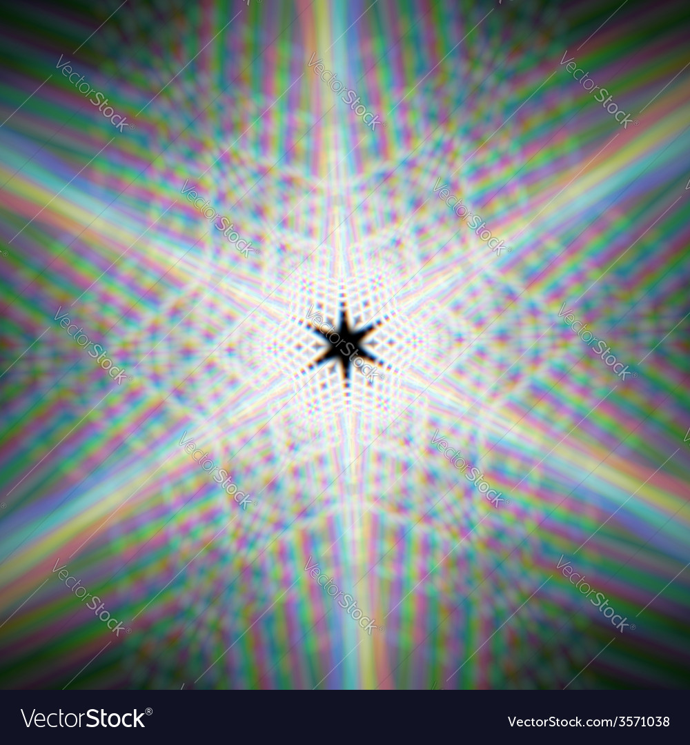 Mystic shiny star with with optical aberrations vector | Price: 1 Credit (USD $1)