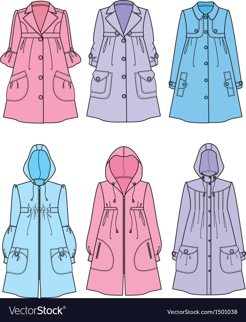 Raincoats vector | Price: 1 Credit (USD $1)