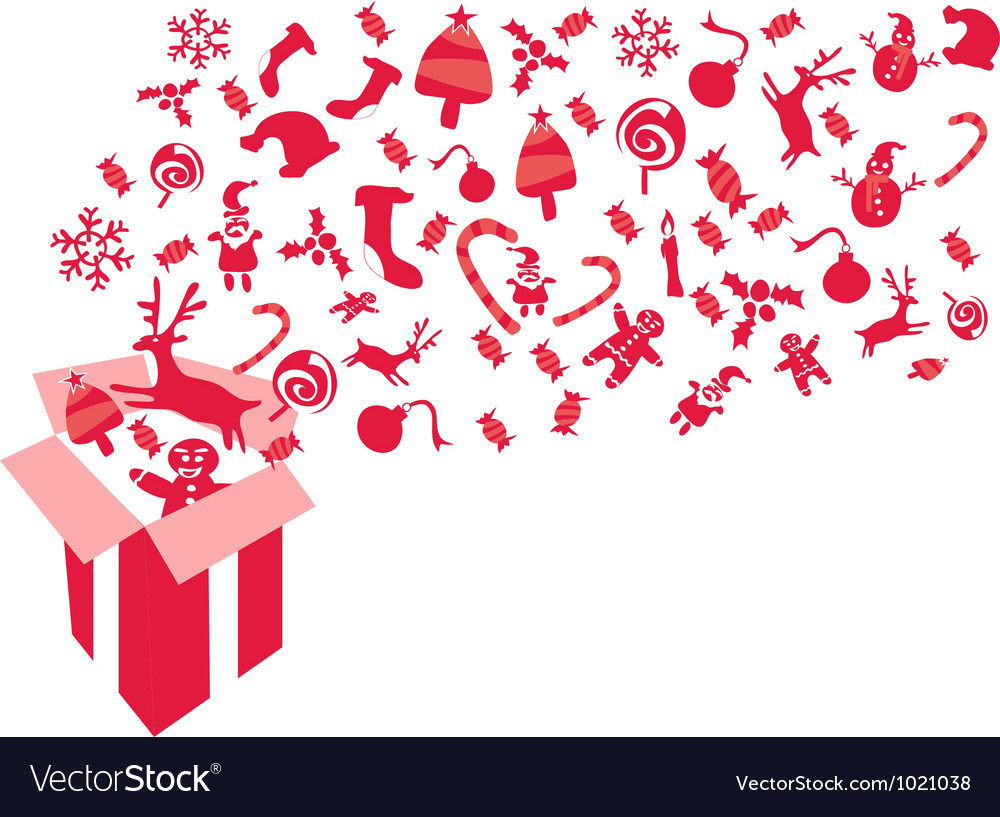Red christmas gift vector | Price: 1 Credit (USD $1)