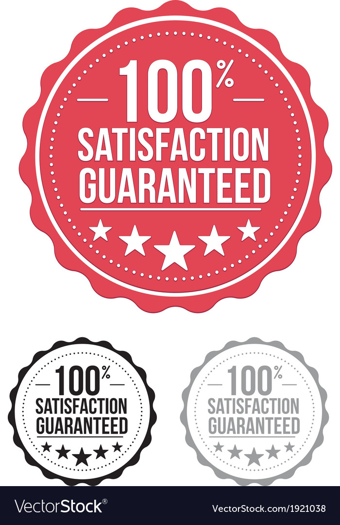 Red satisfaction guaranteed seal stamp design vector | Price: 1 Credit (USD $1)