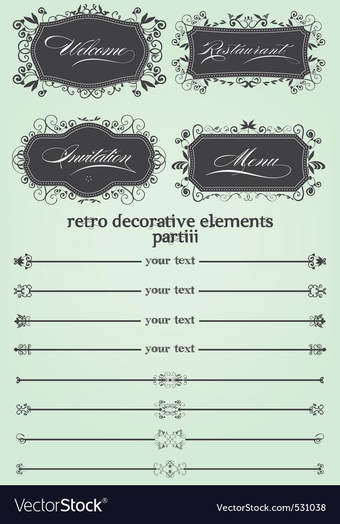 Retro decorative remake iii vector | Price: 1 Credit (USD $1)