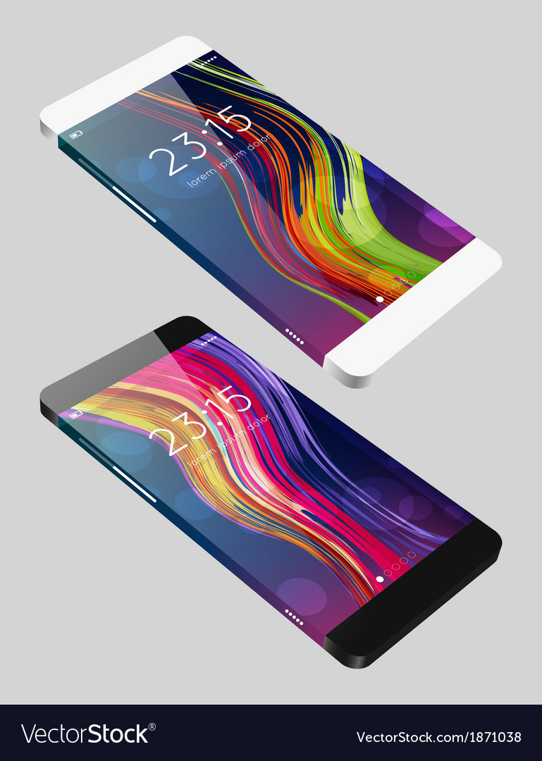 Template phone in flat style vector | Price: 1 Credit (USD $1)