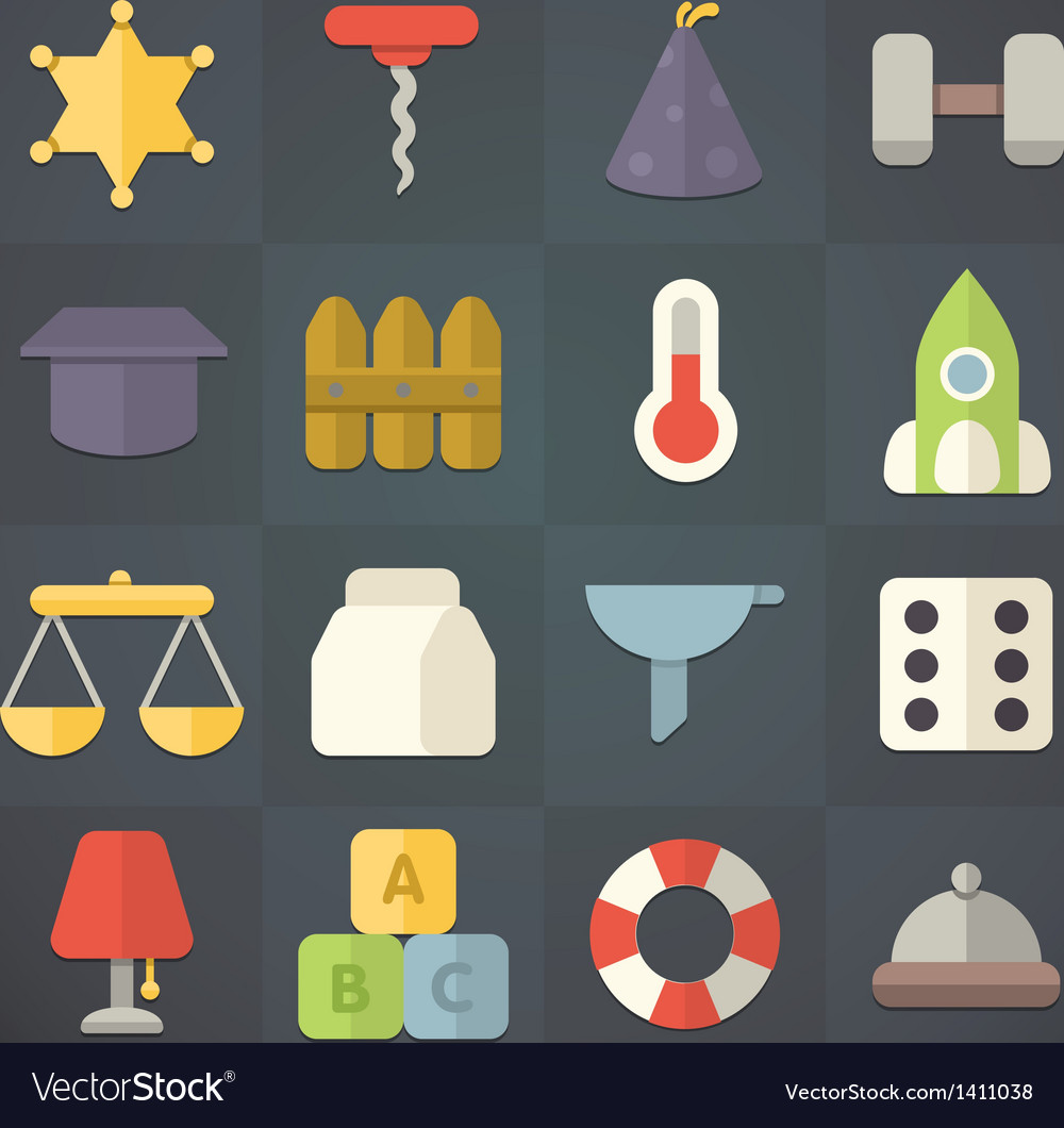Universal flat icons for web and mobile applicatio vector | Price: 1 Credit (USD $1)