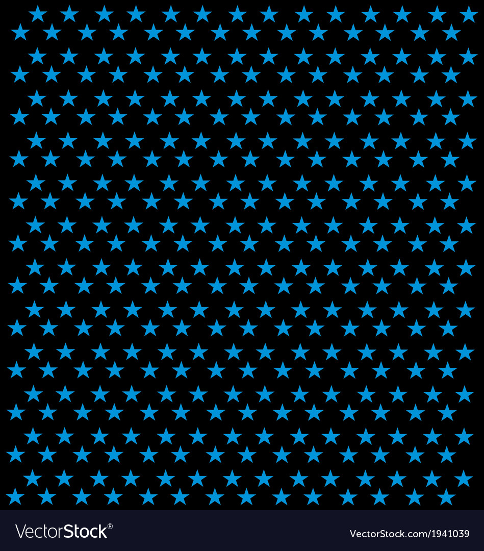 Black background with blue star patterns vector | Price: 1 Credit (USD $1)