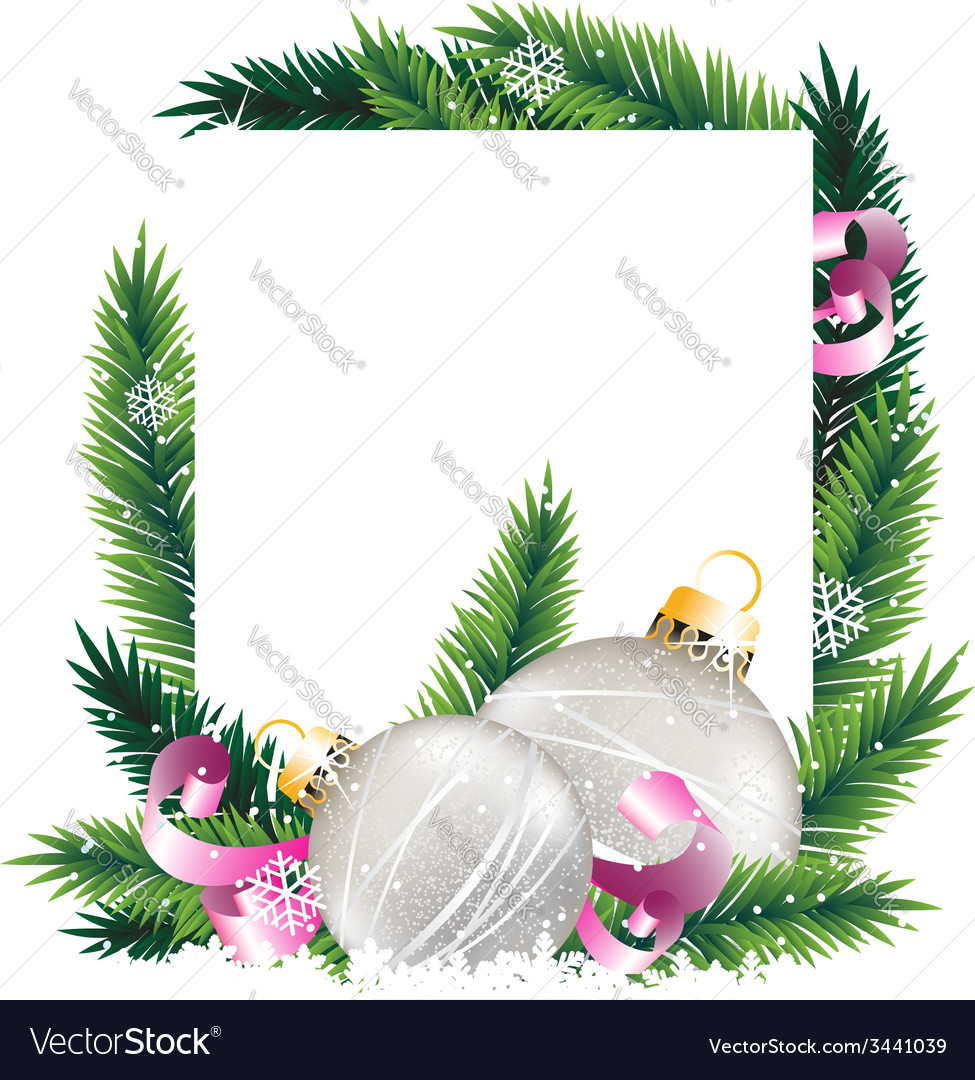 Christmas decorations and pine tree wreath vector   Price: 3 Credit (USD $3)