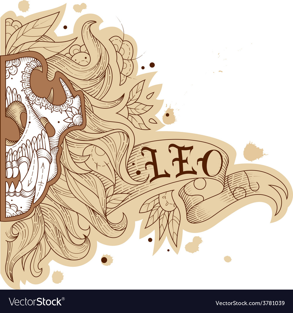 Engraving lion vector | Price: 1 Credit (USD $1)