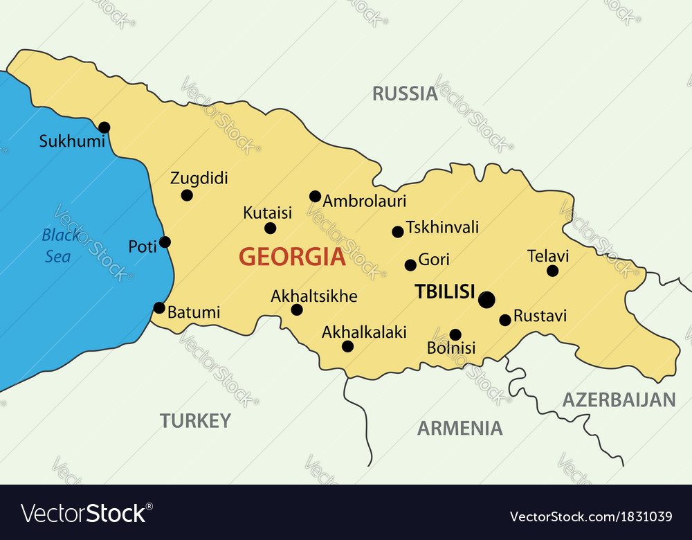 Georgia country - map vector   Price: 1 Credit (USD $1)