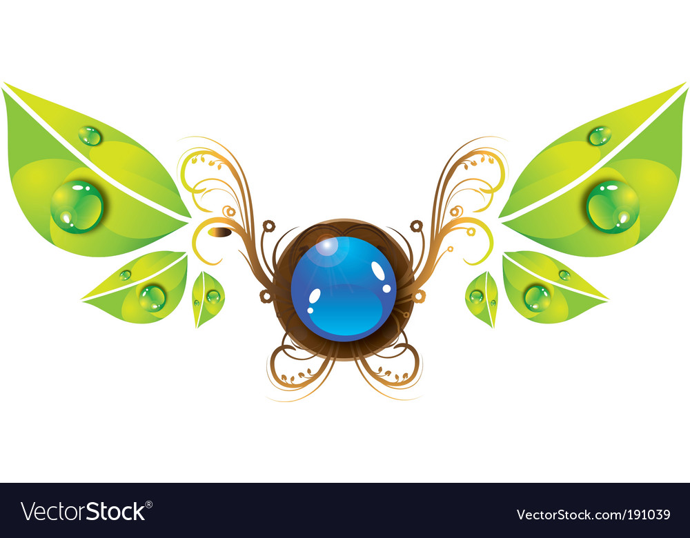 Nature emblem vector | Price: 1 Credit (USD $1)