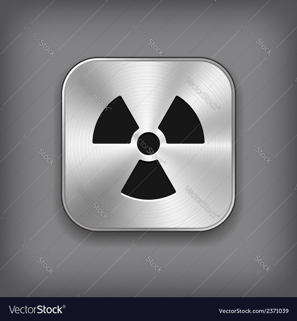 Radioaktivity icon - metal app button vector | Price: 1 Credit (USD $1)