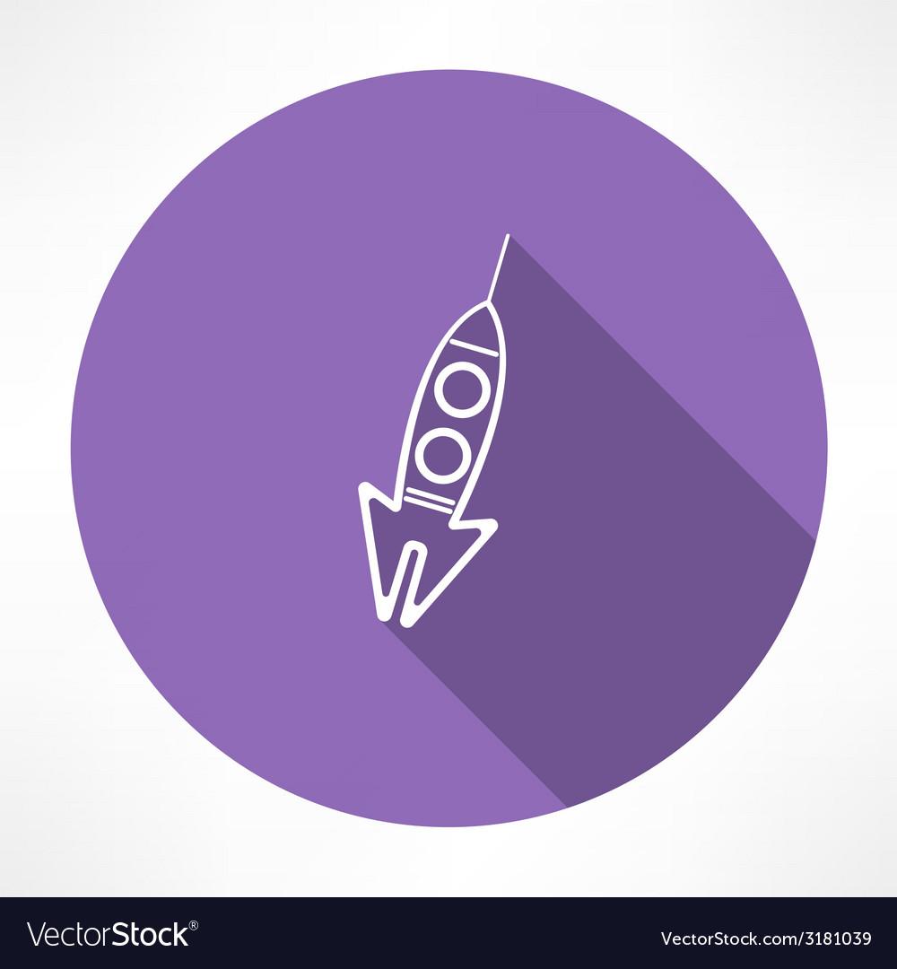 Rocket icon vector   Price: 1 Credit (USD $1)