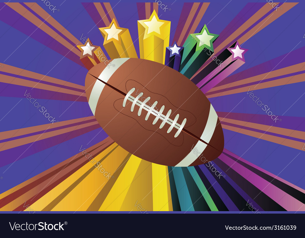 Rugby ball2 vector | Price: 1 Credit (USD $1)
