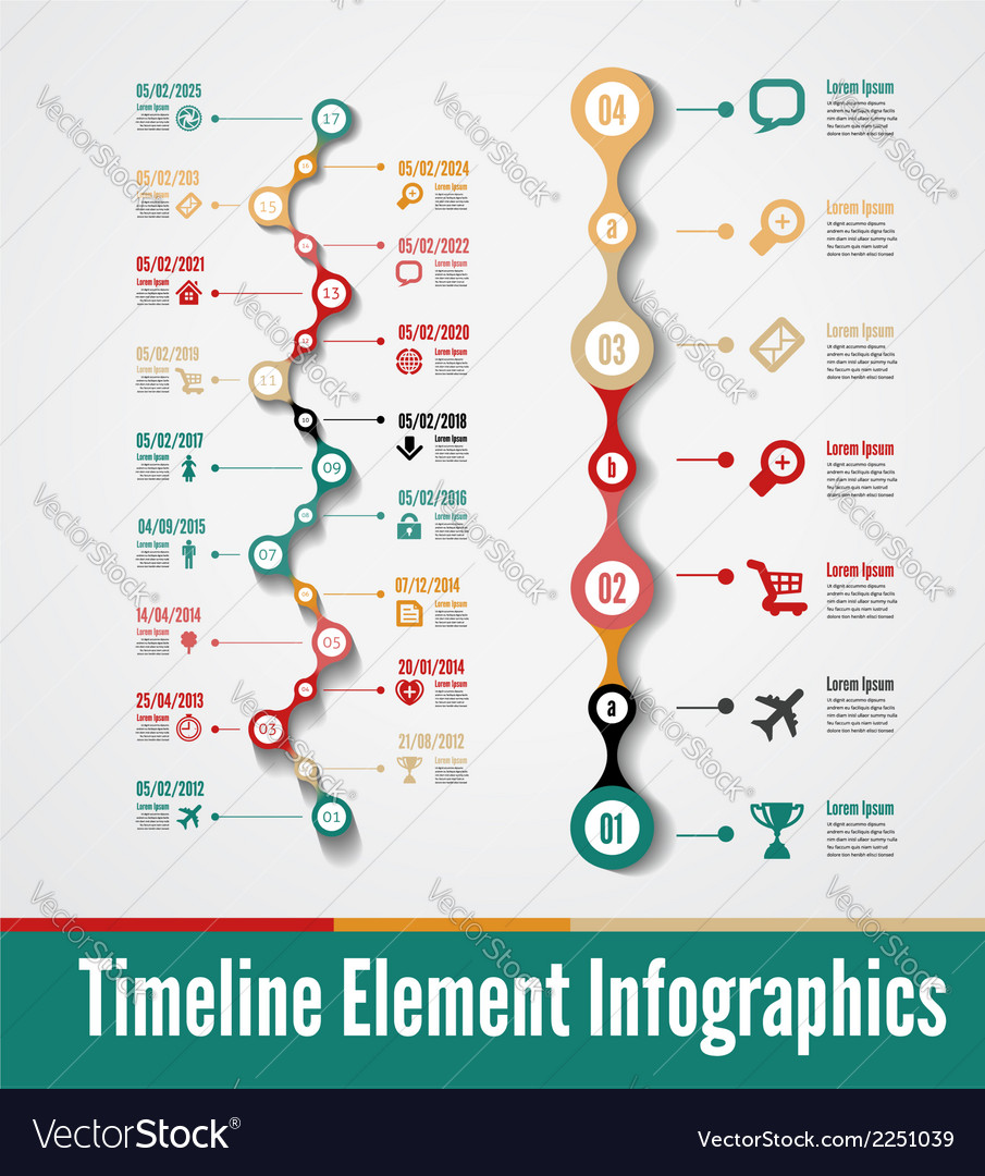 Timeline 02 vector | Price: 1 Credit (USD $1)
