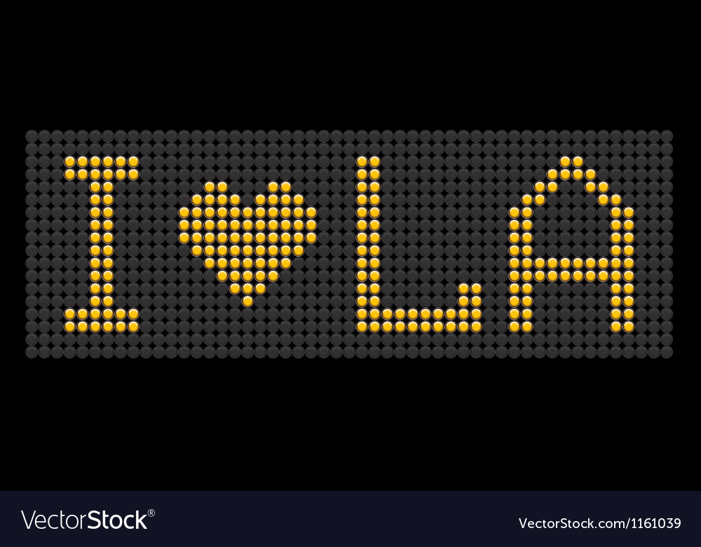Yellow button board words i love la vector | Price: 1 Credit (USD $1)