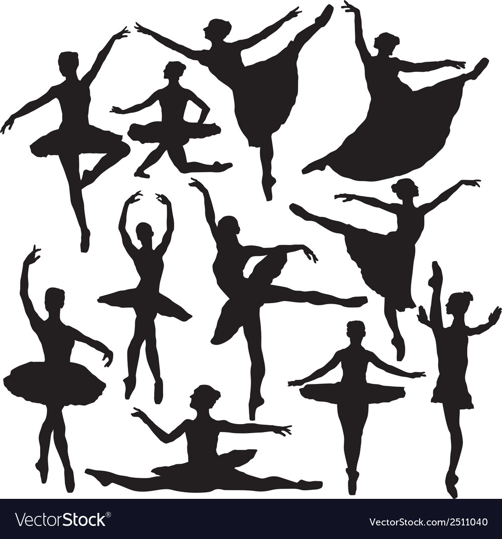 Ballet silhouette vector | Price: 1 Credit (USD $1)