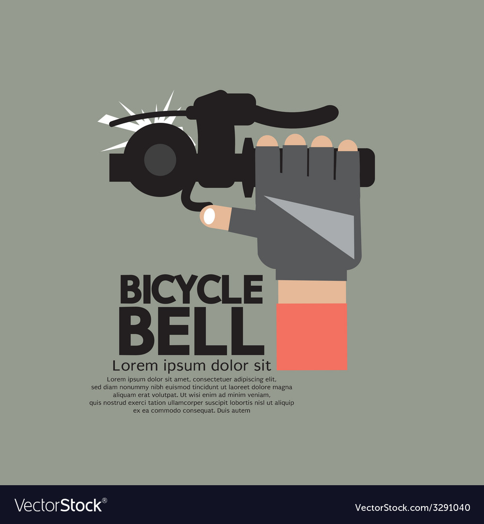 Bicycle bell graphic vector | Price: 1 Credit (USD $1)