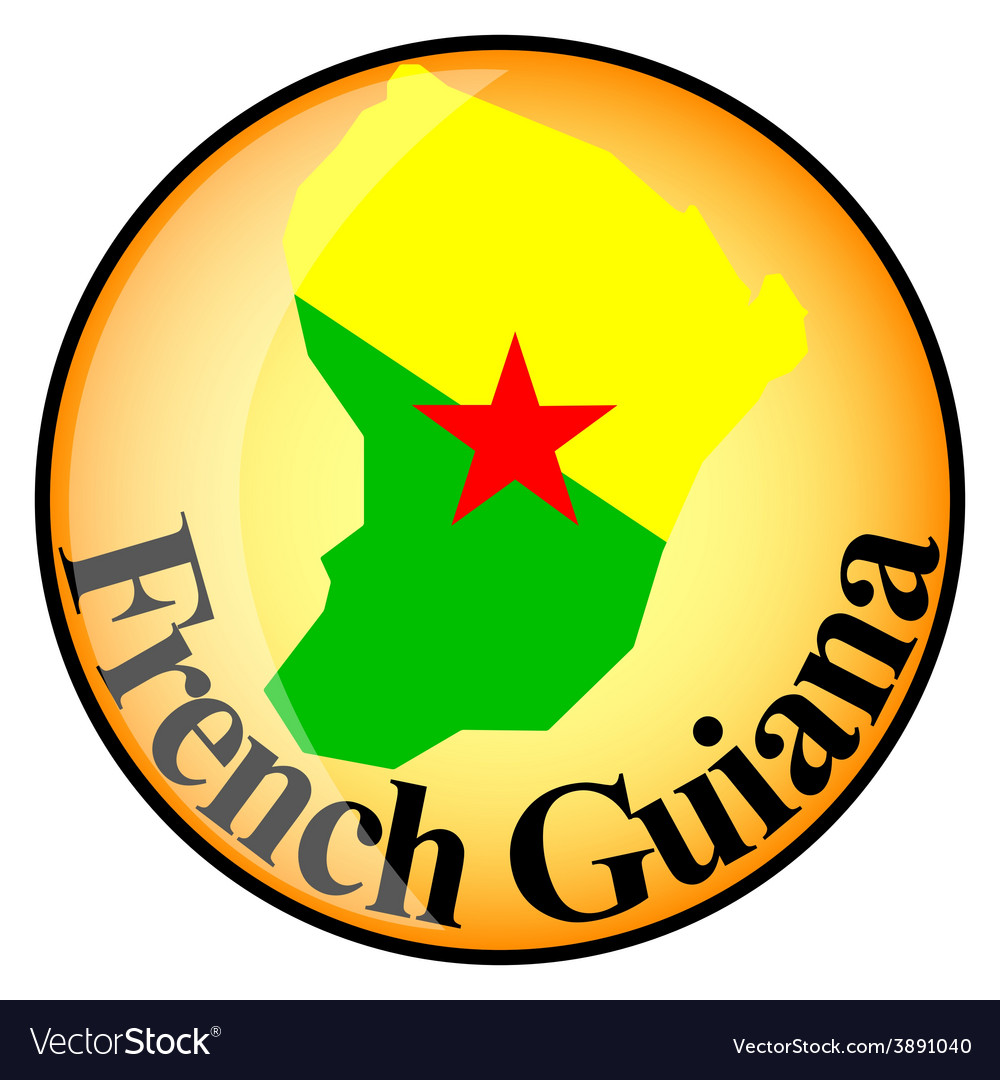 Button french guiana vector | Price: 1 Credit (USD $1)