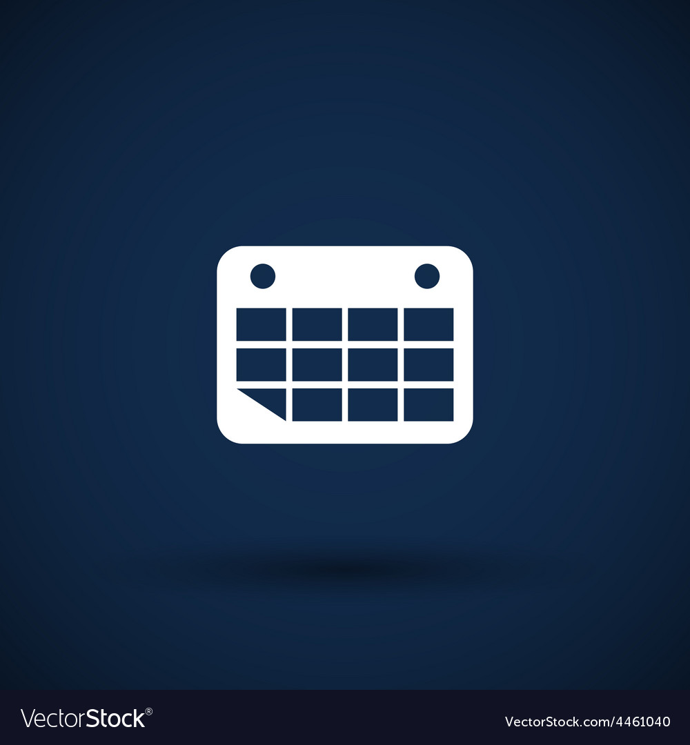 Calendar icon flat design vector | Price: 1 Credit (USD $1)