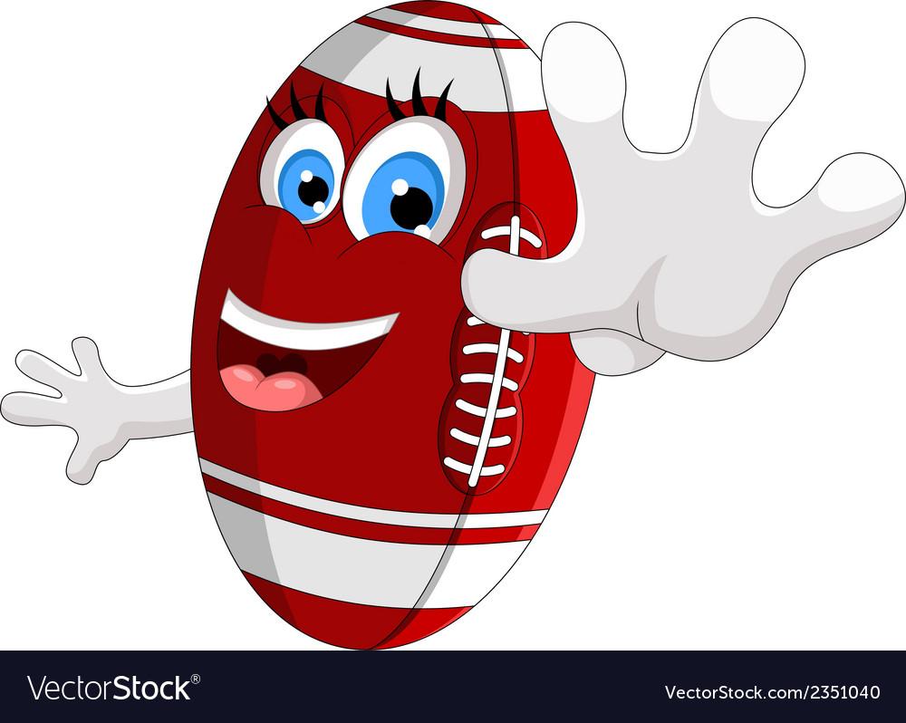 Cartoon american football survive vector | Price: 1 Credit (USD $1)