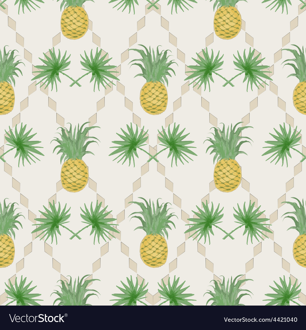 Exotic tropical seamless pattern vector | Price: 1 Credit (USD $1)