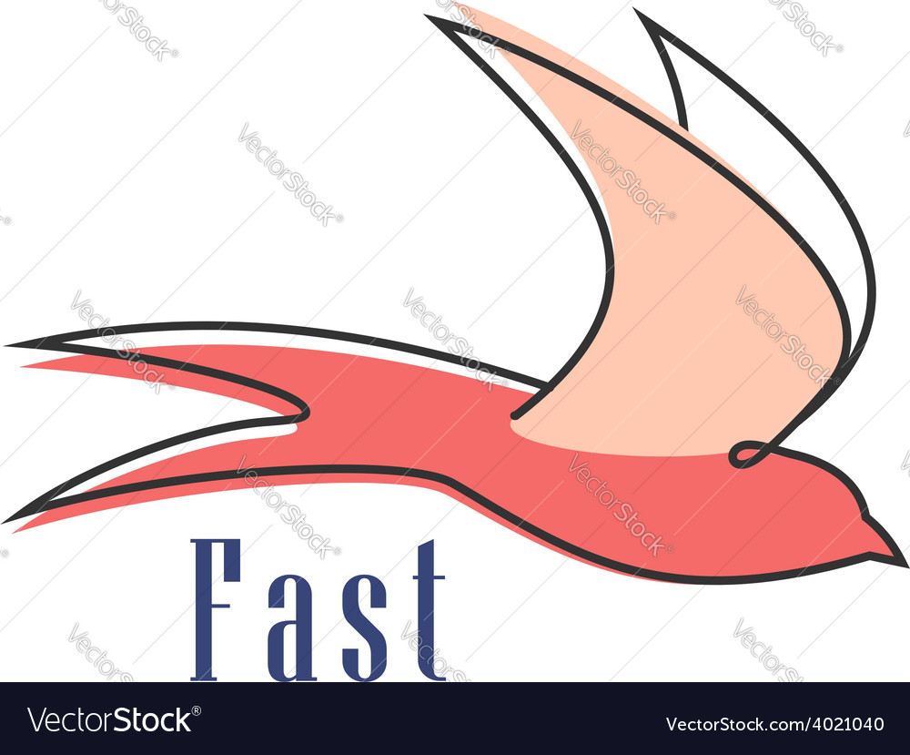 Flying swallow isolated abstract silhouette vector | Price: 1 Credit (USD $1)