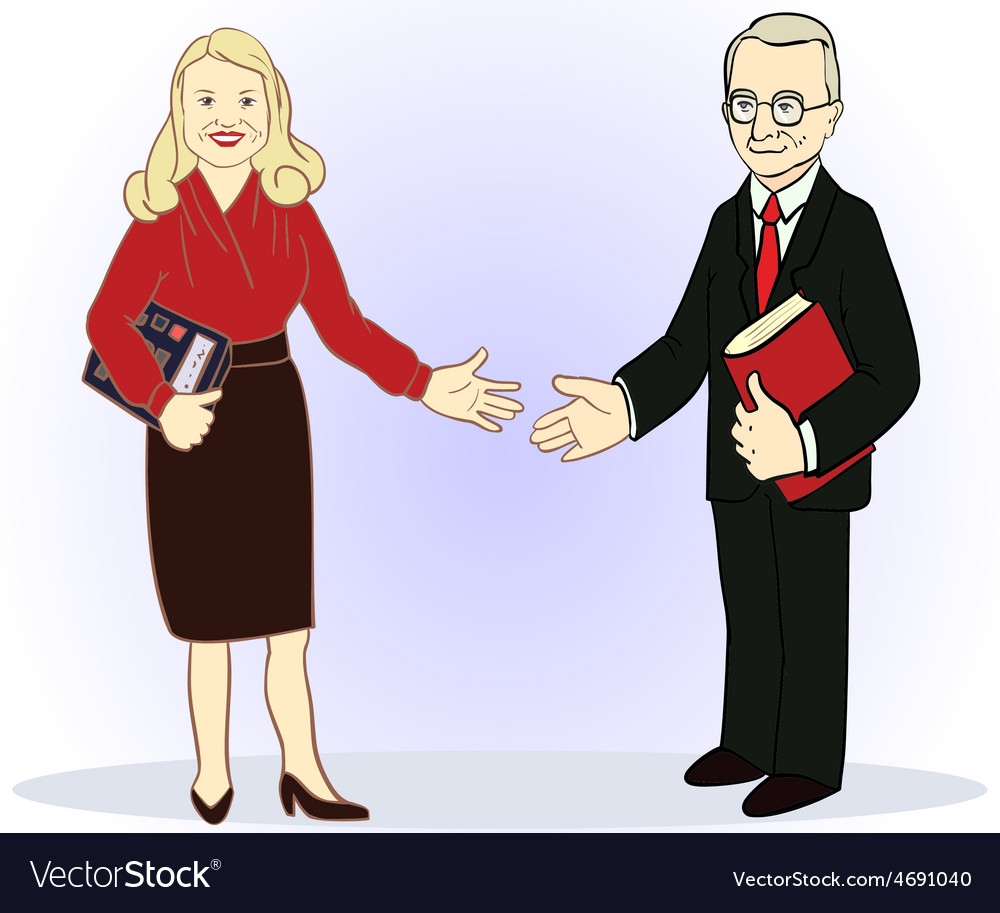 Full length business couple vector | Price: 1 Credit (USD $1)