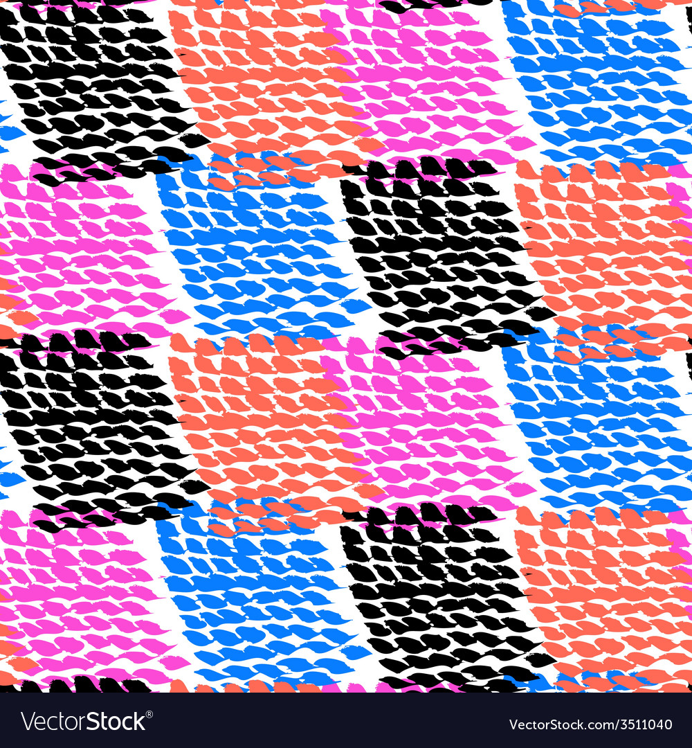 Hand painted color blocked pattern vector | Price: 1 Credit (USD $1)