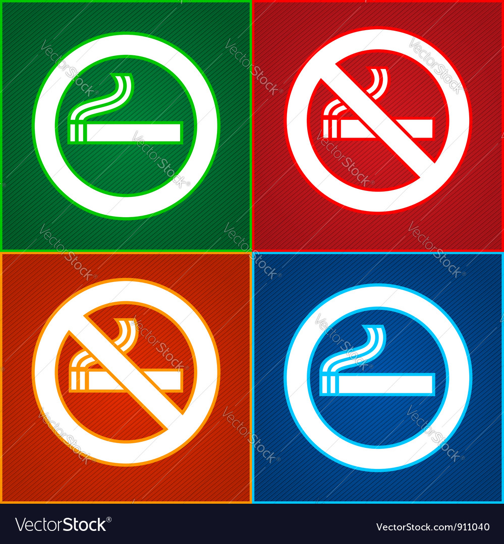 No smoking area labels vector | Price: 1 Credit (USD $1)