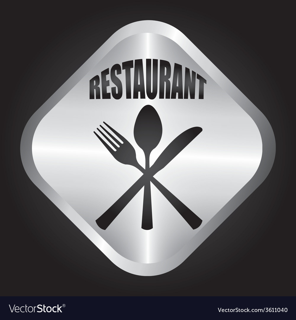 Restaurant button vector | Price: 1 Credit (USD $1)